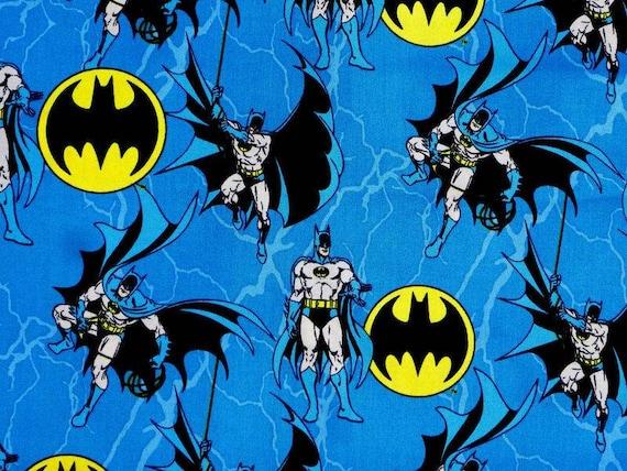 Batman Fabric - DC Fabric by the Yard - Batman Symbol Fabric