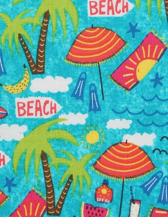 Beach Fabric - Beach Party - Tropical Vayca - Summer Fabric