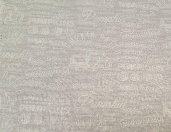 Farmers Market Truck Fabric - Pumpkin Patch Fabric - Rustic Truck Fabric - Country Fabric - Farm House - Plaid Fall Fabric