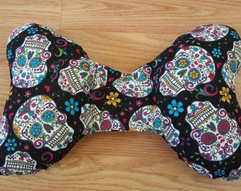 Sugar Skull Infant Head Support - Torticollis - Positional Plagiocephaly - Elephant Ear Pillow - Car Seat Head Support - Baby Shower Gift