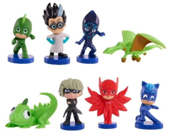 PJ Mask Cake Toppers - PJ Mask Cupcake Toppers - Owlette - Cat Boy - Geco