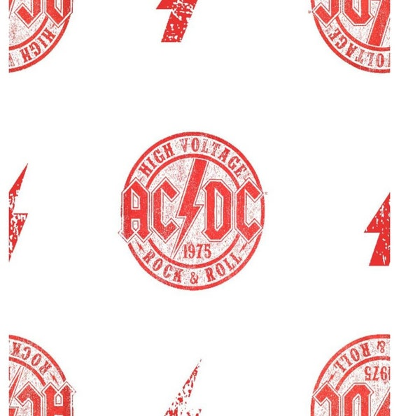AC/DC Fabric - Rock Band Fabric