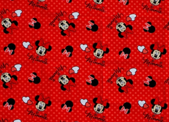 Minnie Mouse Fabric - Red Minnie Mouse Fabric - Disney Classic Fabric - Mickey Mouse Fabric
