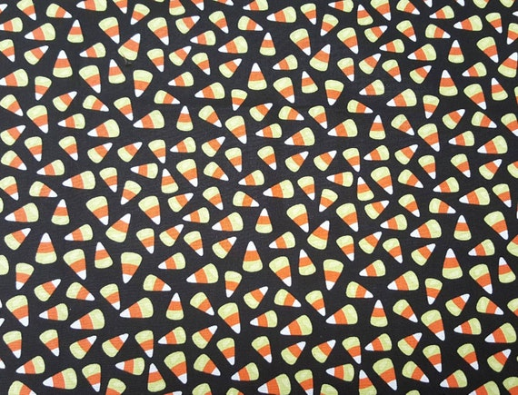 Cany Corn Fabric - Halloween Fabric - Trick or Treat - Candy Fabric