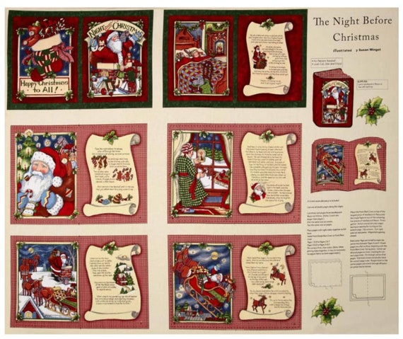 Night Before Christmas Panel Soft Book - Christmas Soft Book - Easy DIY Christmas Gifts