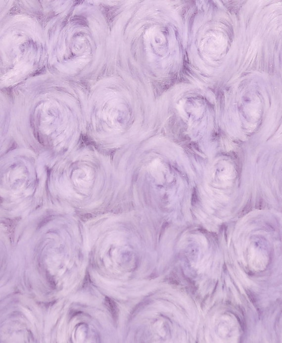 Light Purple Minky Rose Swirl Fabric - Minky Rosette - Super Soft Minky Baby Blanket Fabric