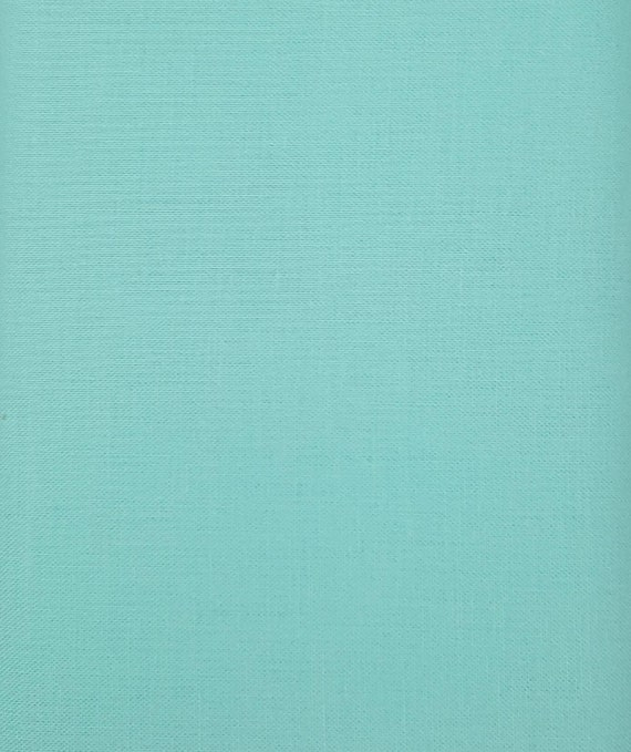 Teal Cotton Fabric - Cotton Material by the Yard - 100% Cotton