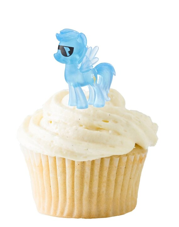 My Little Pony Cupcake Toppers - My Little Pony Cake Topper - Twilight Sparkle - Applejack - Fluttershy - Rarity - Rainbow Dash - Pinkie Pie