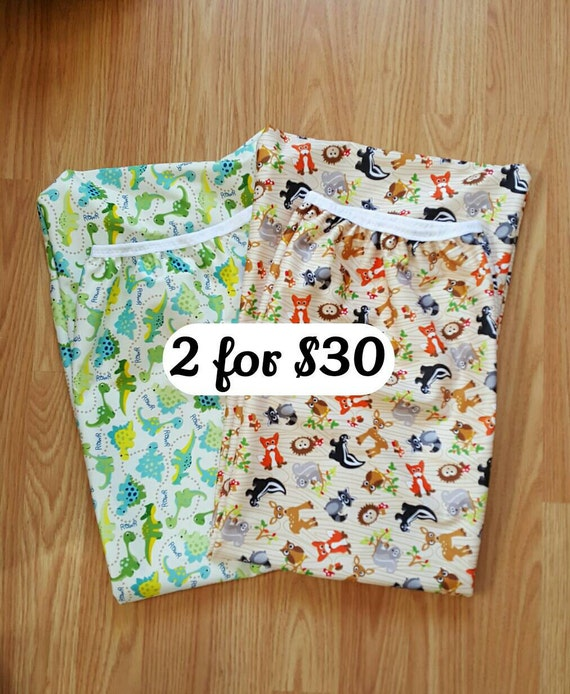 Set of 2 - Eco-PUL Diaper Pail Wet Bag - Diaper Genie  Wet Bag - Unique Baby Shower Gift Idea - Cloth Diapering Accessories