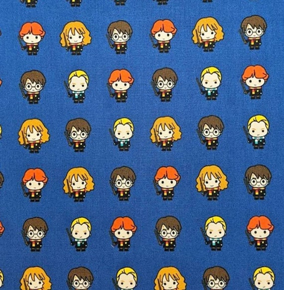 Harry Potter Fabric - Hedwig Owl Fabric - Harry Potter Glasses Fabric - Gryffindor - Hogwarts Fabric