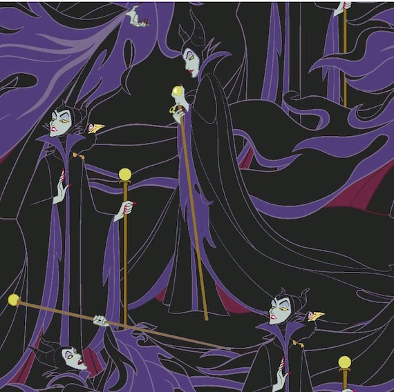Maleficent Cotton Fabric - Sleeping Beauty