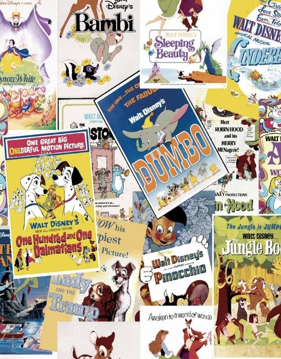Disney Classic Fabric - 101 Dalmations- Pinocchio - Bambi - Alice in Wonderland - Cinderella  - Snow White - Dumbo