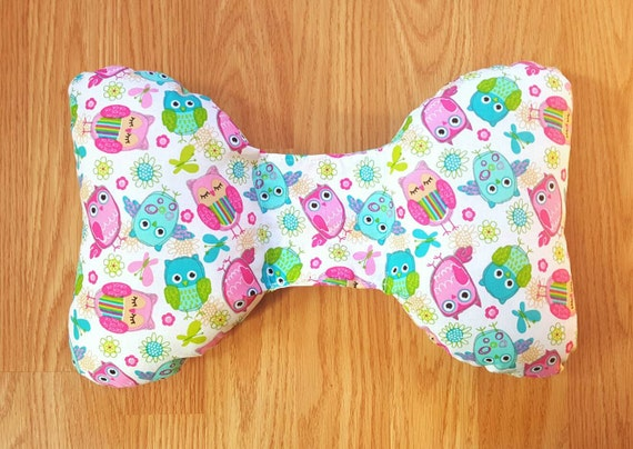 Owl Infant Head Support - Torticollis - Positional Plagiocephaly - Elephant Ear Pillow - Car Seat Head Support - Unique Baby Shower Gift