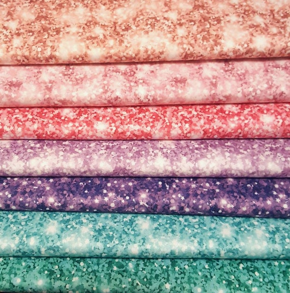 ECO-PUL Fabric by the Yard - Food Safe Fabric - Cloth Diaper Fabric - Solvent-free Laminate - Glitter Shimmer