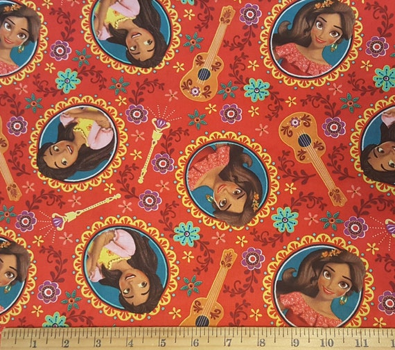 Elena Red Fabric - Disney Elena Fabric