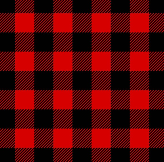 Buffalo Plaid Fabric - Rustic Christmas Fabric - Country Christmas Fabric - Farm House - Red Buffalo Plaid - Black and White Buffalo Plaid