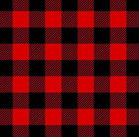 Buffalo Plaid Flannel Fabric - Rustic Christmas Fabric - Country Christmas Fabric - Farm House - Red Buffalo Plaid