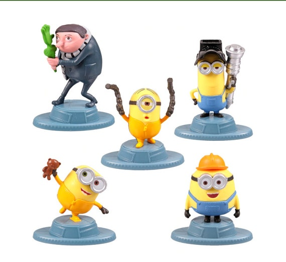 Minions Cupcake topper - Minions Cake Topper - Despicable Me Cake Toppers - The Rise of Gru Cake Toppers