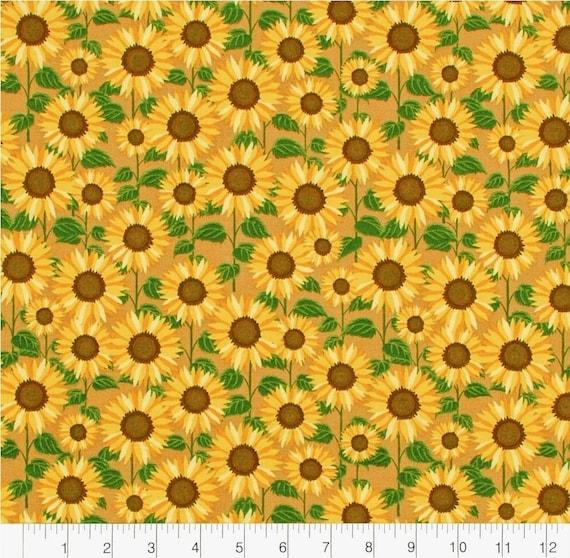 Fall Sunflower Fabric - Fall Fabric - Rustic Fall Fabric - Country Fabric - Farm House - Floral Fall Fabric