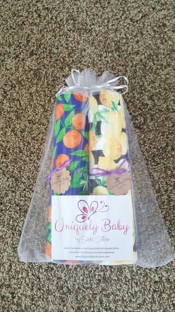 Lemon Unpaper Towels - Flannel Reusable Towels - 1 Ply - ECO Friendly - Cotton Paper Towels - Fun Print - Oranges - Animals - Buffalo Plaid