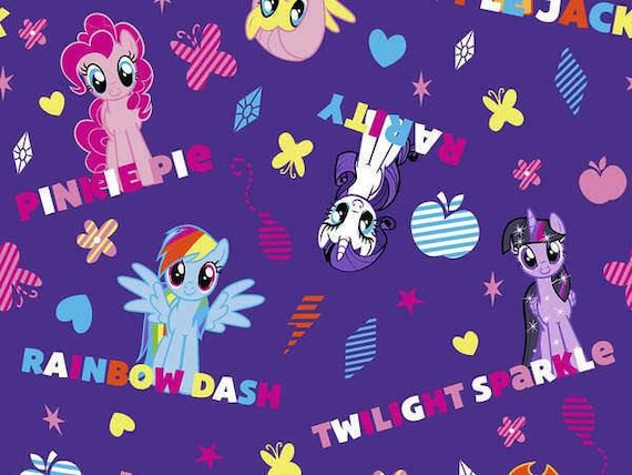 Unicorn Cotton Fabric by the Yard - Cute Little Unicorns - Be Yourself or Be A Unicorn - Sparkle Like A Unicorn - My Little Ponys