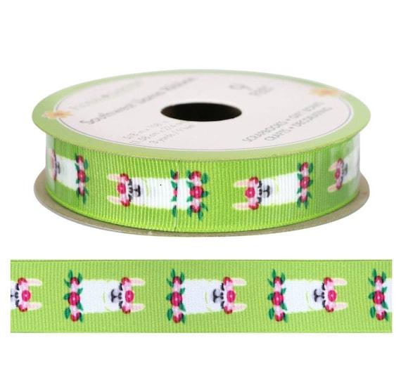 Floral Llama Ribbon - Llama Ribbon - Ribbon Blanket Accessories