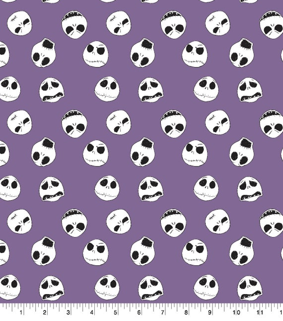 Nightmare Before Christmas Fabric - Nightmare Before Christmas Blanket Fabric - Purple Nightmare Before Christmas