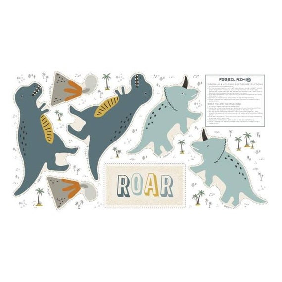 Dinosaur Panel Fabric - Pillow Dinosaur Toy - DIY Baby Gift
