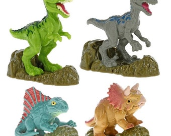 Jurassic World Cake Toppers - Cupcake Toppers - Jurassic World Cupcake Toppers - Jurassic World Cake Decorations - Dinosaurs Cake Toppers