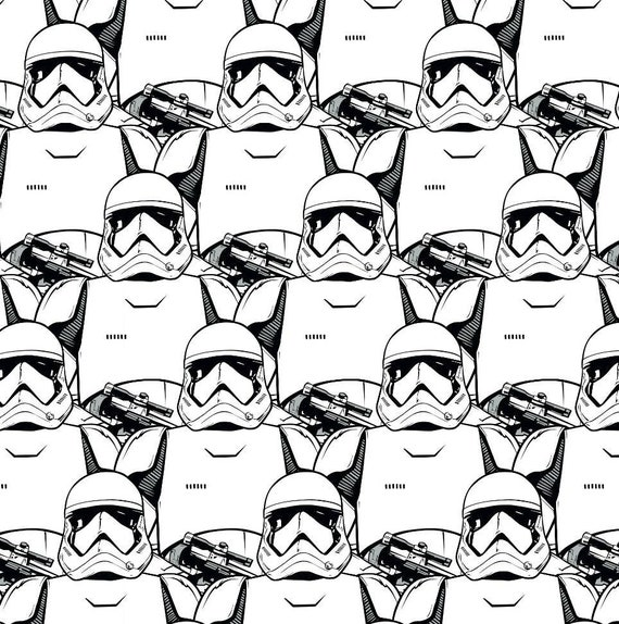 Star Wars Cartoon Fabric - Yoda - Death Star - Luke Skywalker - Princess Leia - C-3PO  - R2-D2 - Han Solo - Rey - Kylo Ren