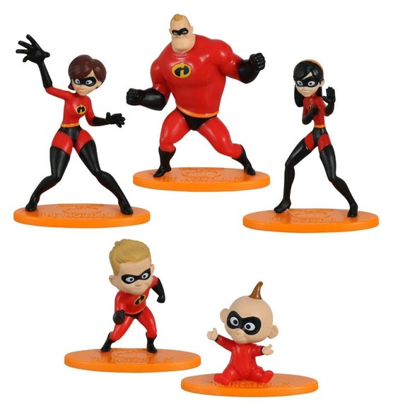 Incredibles Cake Toppers - Cupcake Toppers - Super Hero Cupcake Toppers - Incredibles Cake Decorations