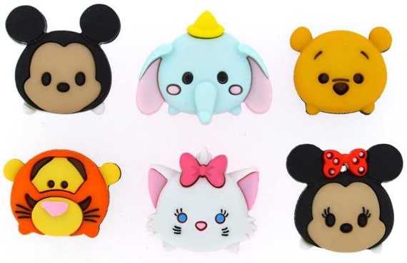 Emoji Mickey Mouse Buttons - Minnie Mouse Buttons - Mickey and Minnie Mouse - Kids Buttons - Dumbo - Tigger - Pooh - Marie