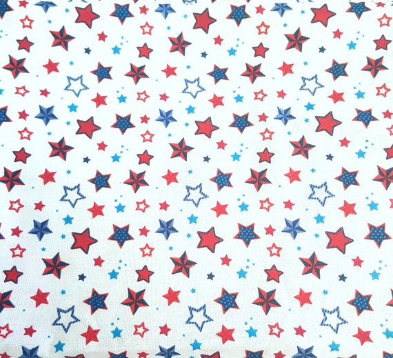 Star Fabric - Patriotic Fabric - America Flag Fabric - 4th of July Fabric - Fireworks