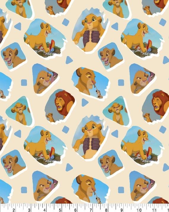 Lion King Fabric - Simba Lion King Fabric - Jungle Knit Fabric - Quilting Cotton