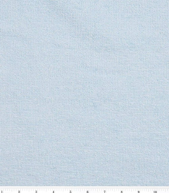 Light Blue Terry Cloth - Towel Fabric - Terry Cloth by the Yard - Cotton Terry Cloth