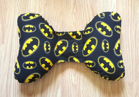 Batman Infant Head Support - Torticollis - Positional Plagiocephaly - Elephant Ear Pillow - Car Seat Head Support - Unique Baby Shower Gift