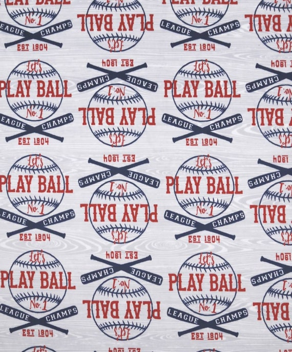 Baseball Minky Fabric - Soft and Minky Fabric - American Baseball Fabric - Play Ball
