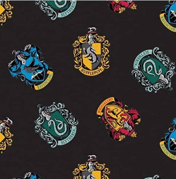 Harry Potter House Fabric - Harry Potter Gryffindor Fabric - Quilting Cotton Harry Potter Fabric - Ravenclaw - Slytherin - Hufflepuff