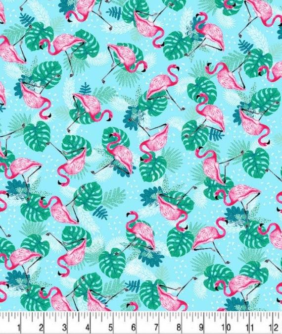 Flamingo Fabric - Summer Camping - Glamping Fabric - Tropical Vayca - Tropical Flamingos