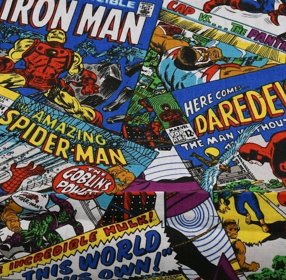 Spiderman Fabric - Far From Home - Homecoming - Iron man - Marvel Fabric - Comic Book Fabric