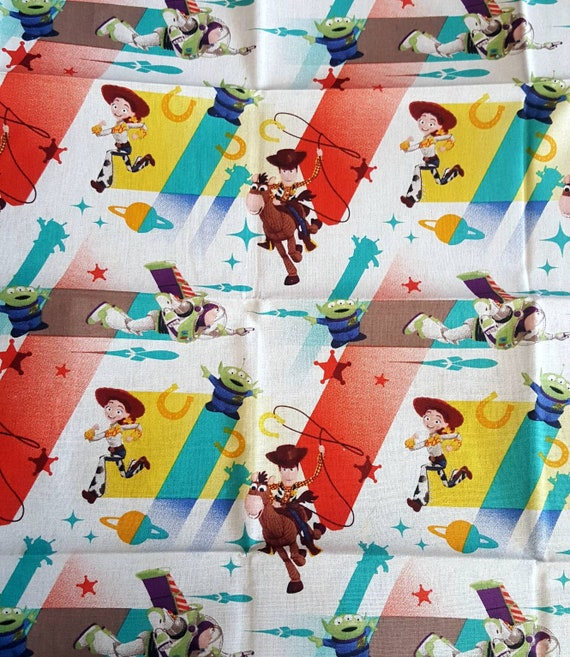 Toy Story 4 Fabric - Toy Story Fabric - Woody Fabric - Buzz Lightyear Fabric - Pixar Fabric
