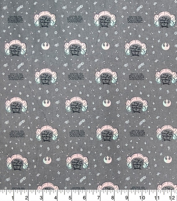 Star Wars Cartoon Fabric - Yoda - Luke Skywalker - Princess Leia - C-3PO  - R2-D2 - Han Solo - Rey - Kylo Ren - The Future is Female