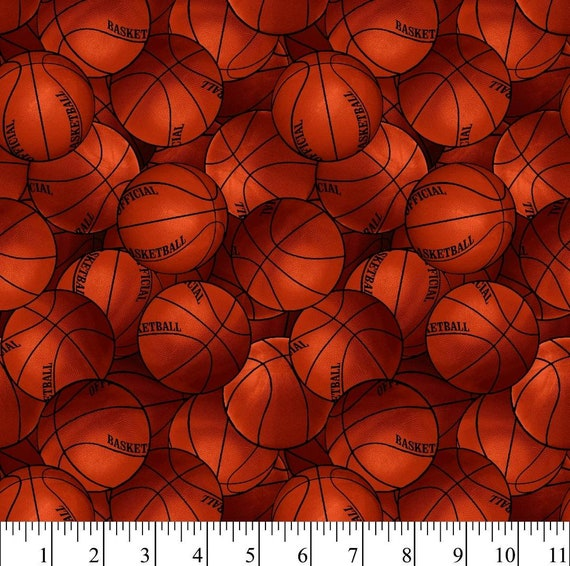 Basketball Fabric - Basketballs - NBA Basketball Fabric - Sports Fabric