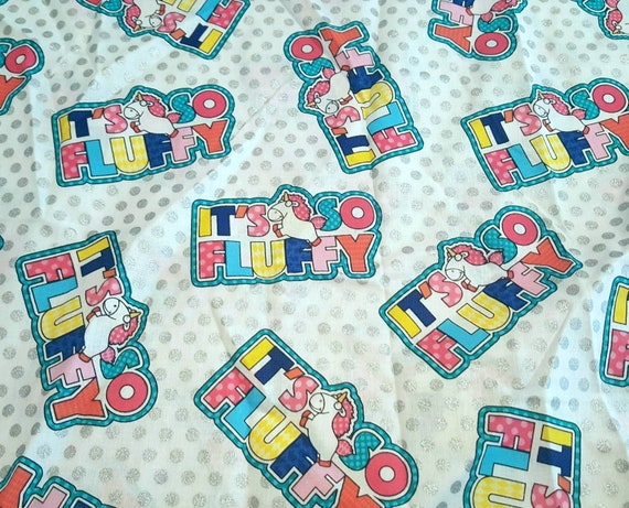 It's So Fluffy Fabric - Minions Fabric - Gru and Minnions - Despicable Me Fabric - Unicorn Fabric