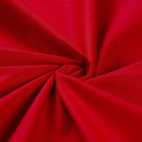 Red Cotton Fabric - Cotton Material by the Yard - 100% Cotton