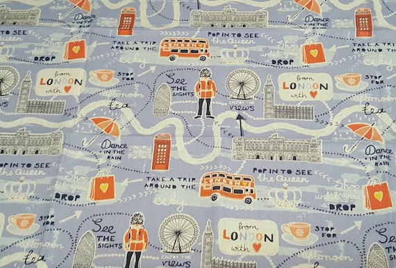 Emma and Mila London Fabric - Emma and Mila Fabric by the Yard - Cotton Fabric by the Yard