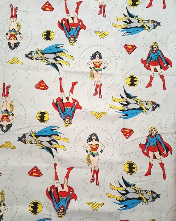 Batwoman Fabric - DC Fabric by the Yard - Superwoman Fabric - Super Girl - Wonder Woman