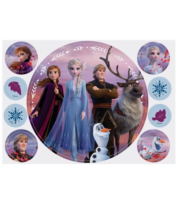 Frozen 2 Edible Cupcake Toppers - Frozen 2 Cake Toppers - Wilton Cake Toppers -Elsa - Anna - Sven - Olaf - Christof