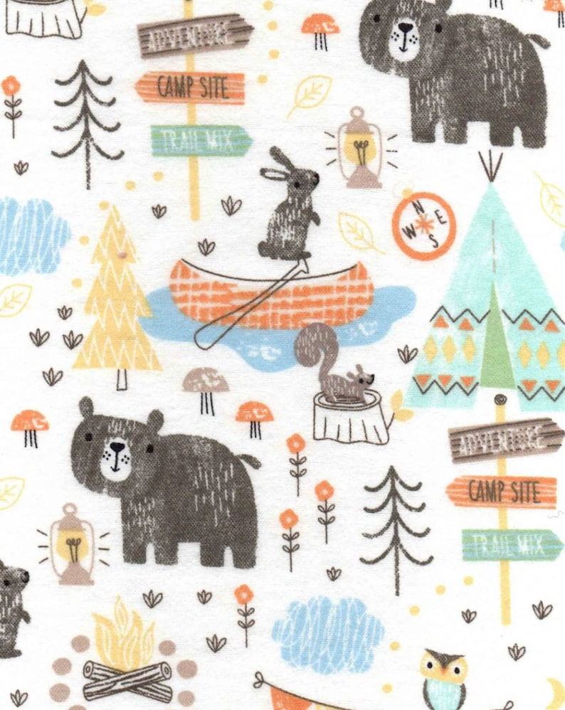 Wilderness Bear Snuggle Flannel  Camping Snuggle Flannel  image 0