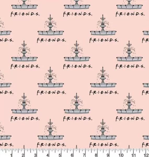 Friends Flannel Fabric - Friends Kawaii Friends Fabric - Chick and Duck - Central Perk - Rachel - Ross - Phebe - Chandler - Joey - Monica